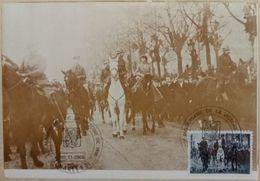 Carte Maximum Entrée Des Souverains à Cheval à Bruxelles La Famille Royale Et Le Prince Albert D'Angleterre - Autres