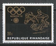 Rwanda 1971. Scott #414 (MNH) Olympic Games, Munich, Equestrian * - Rwanda