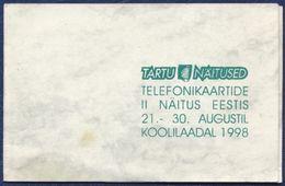 ESTONIA - ESTLAND - ESTONIE 4,80 CHIP PHONECARD TARTU TELEPHONE CARDS COLLECTOR'S EXHIBITION 1998 MINT IN FOLDER - Estonia