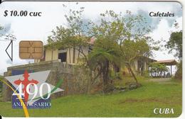 CUBA - Cafetales, 490 Aniversario Fundacion Of Santiago De Cuba, Tirage 35000, 06/05, Used - Cuba