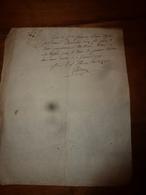 1792 Document Manuscrit Avec Cachets ...non Déchiffré - Manuscrits