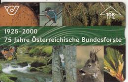 AUSTRIA - Animals, 75 Jahre Österreichische Bundesforste, CN : 003A, Tirage 20000, 05/00, Used - Austria