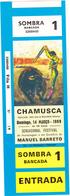 Portugal -Tauromaquia -2 Bilhetes De Duas Corridas Na Praça De Touros Da Chamusca (novos) - Otros