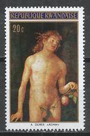 Rwanda 1971. Scott #423 (M) Painting, Adam By Dürer * - 1970-79: Neufs