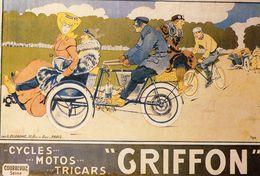 'Griffon'  Cycles  Motos  Tricars   -  Publicité Vélos   -  CPM - Ciclismo