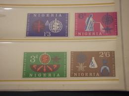NIGERIA - 1962 MALARIA/INSETTO 4 VALORI - NUOVI(++) - Nigeria (1961-...)