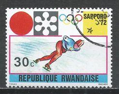 Rwanda 1971. Scott #437 (U) Winter Olympic Games, Sapporo, Speed Skating * - Rwanda