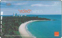 Thailand  Phonecard Orange - Pattaya Beach - Landschaften