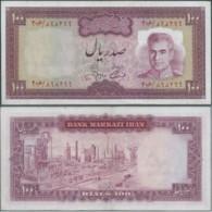 PERSIA PERSE PERSIEN PERSAN IRAN 1964 1°Periodo Mohammad Reza Shah Pahlavi Lotto Banconote 2X100 RI Usati Ben Conservati - Iran