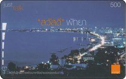 Thailand  Phonecard Orange - Pattaya Beach Night - Landschaften