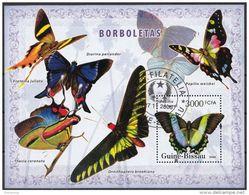 Guinea Bissau 2006 Bf. 314 Farfalle Butterfly Papillons Mariposas Borboletas - Erateina Thecla Coronata Foglietto Perf. - Guinea-Bissau