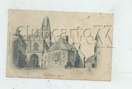 Marle (02) : La Place De L'église En 1905 (attelage) PF. - Frankrijk