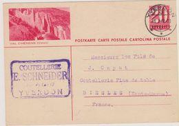 SUISSE - Yverdon - Entier Postal - Val D'Herens - Postwaardestukken