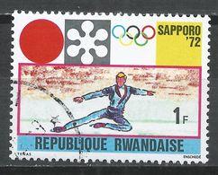 Rwanda 1971. Scott #439 (U) Winter Olympic Games, Sapporo, Figure Skating * - Rwanda