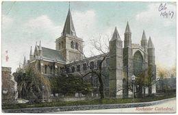 Rochester Cathedral - Postmark 1907 - Hartmann - Rochester