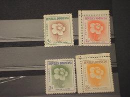 DOMENICANA - 1957/8 FIORI  4 VALORI - NUOVI(++) - Repubblica Domenicana