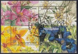 SINGAPUR  Block 82, Gestempelt, Blumen 2001, Parallelausgabe Mit SCHWEIZ - Singapore (1959-...)