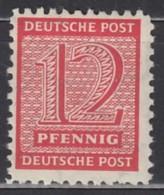 SBZ  West-Sachsen 119 A/B X (?), Postfrisch **, Geprüft, Postmeistertrennung 11, Ziffern 1945 - Zona Sovietica