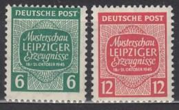 SBZ  West-Sachsen 124-125 X, Postfrisch *, Musterschau Leipziger Erzeugnisse 1945 - Sowjetische Zone (SBZ)