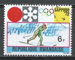Rwanda 1971. Scott #440 (U) Winter Olympic Games, Sapporo, Cross-country Skiing * - Rwanda