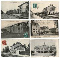 24 CP_Trains(VILLIERS En LIEU_CHAUMONT)Gares(St THIBAULT_ROLAMPONT+...)+ Folklore+ FOIRE DE LA St LADRE Etc... N°26 - Cartes Postales