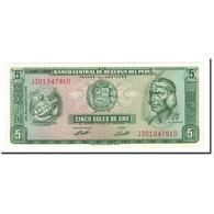 Billet, Pérou, 5 Soles De Oro, 1969-1974, 1974-08-15, KM:99c, NEUF - Pérou