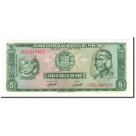 Billet, Pérou, 5 Soles De Oro, 1969-1974, 1974-08-15, KM:99c, NEUF - Peru
