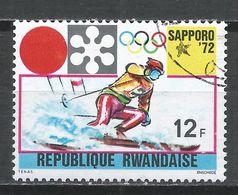 Rwanda 1971. Scott #441 (U) Winter Olympic Games, Sapporo, Slalom * - Rwanda