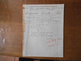 CRESPIN ALEXANDRE LORETTE & FILS PRES DE LA GARE DE BLANC MISSERON SCULPTURE GRAVURE PIERRES  FACTURE DU 12 JUILLET 1926 - France