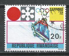 Rwanda 1971. Scott #442 (U) Winter Olympic Games, Sapporo, Bobsledding * - Rwanda