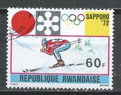 Rwanda 1971. Scott #443 (U) Winter Olympic Games, Sapporo, Downhill Skiing * - Rwanda