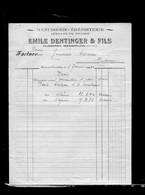 Une Facture   Ets Emile Dentinger  & Fils : Menuiserie & ébénisterie   Année 1950 - France