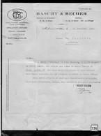 Une Facture   Ets  Baschy & Becher    Année 1925  Chauffage Central - France