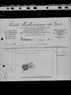 Une Facture   : Société  Mulhousienne  Du Gaz Année 1936 - Electricity & Gas