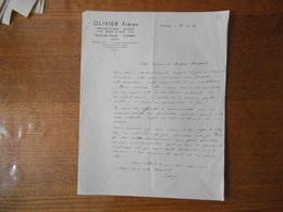 COMINES OLIVIER FRERES FROMAGES EN GROS SALAISONS BEURRE RUE DU BAS CHEMIN COURRIER DU 23-12-1942 - France