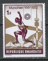 Rwanda 1972. Scott #481 (M) Olympic Games, Munich, Broad Jump * - 1970-79: Neufs