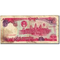 Billet, Cambodge, 500 Riels, 1990-1992, 1991, KM:38a, B - Cambodia