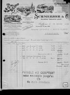 Une Facture   :  Ets  Schmerber      Mulhouse   -Tagolsheim - Illfurt     Année 1922 - France