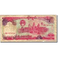 Billet, Cambodge, 500 Riels, 1990-1992, 1991, KM:38a, TB - Cambodia