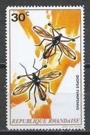 Rwanda 1973. Scott #496 (MNH) Insect, Diopsis Fumipennis * - Rwanda