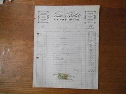 CLARY NORD JULIEN MILLOT ARBUSTES D'ORNEMENT ARBRES FRUITIERS ROSIERS FLEURS FACTURE DU 27 JUIN 1922 TIMBRE QUITTANCES - France