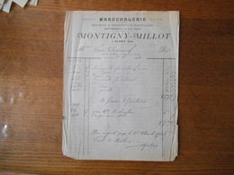 CLARY NORD MONTIGNY-MILLOT MARECHALERIE ESSIEUX RESSORTS BANDAGES FACTURE DU 31 D. 1914 - France