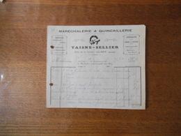 CLARY NORD TAISNE-SELLIER MARECHALERIE & QUINCAILLERIE RUE DE LA CAVEE SPECIALITE POUR CAMIONS VOITURES FACTURE DE 192 - France