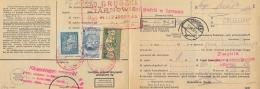 Poland 1939 Postal Order With Fiscal Stamps Judicial Revenue 2,50 Zl. + 3 Zl. + 5 Zl. - Steuermarken