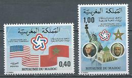 Maroc YT N°763/764 Indépendance Des Etats-Unis Neuf ** - Marocco (1956-...)