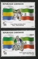 2012 Gabon Football  African Nations Cup Complete Set Of 2 MNH - Gabon