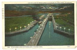 S6928 - Miraflores Locks By Moonlight, Panama Canal - Panama