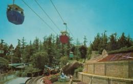Skyway Ride Over Disneyland, Fantasyland Casey Jr. Railroad Storybook Land Canal, C1950s Vintage Postcard - Disneyland