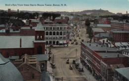 Dover New Hampshire, View Of Town From Opera House Tower, Street Scene C1910s Vintage Postcard - Dover