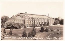 Ames Iowa, Iowa State College, Men's Gymnasium, C1940s Vintage Real Photo Postcard - Ames